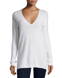 Joie Agnia Cashmere V Neck Sweater White