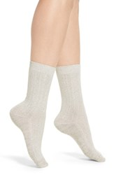 Treasure And Bond Marled Knit Crew Socks Grey Sleet