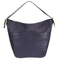John Lewis Sophia Leather Large Hobo Bag Navy