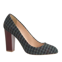 J.Crew Stella Houndstooth Pumps Olive Amber Multi