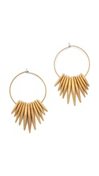 Michael Kors Tribal Hoop Earrings Gold