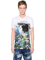 Dsquared Geisha Printed Washed Jersey T Shirt