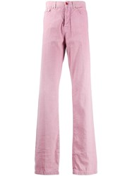 Kiton Straight Leg Trousers Pink