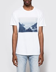 Quality Peoples Paradise Photo Crew T Shirt White