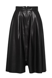 Great Plains Seattle Faux Leather Zip Skirt Black