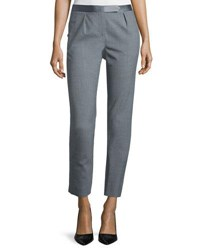 Halston Slim Fit Cropped Pants Heather Grey