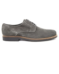 Menlook Label Willy Anthracite Grey Suede Derbies