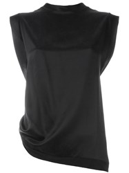 Aries Sleeveless Twist Top Black