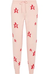 Chinti And Parker 3D Star Cashmere Track Pants Pink Usd