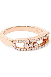 Messika Baby Move 18 Karat Rose Gold Diamond Ring