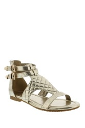 Liliana Corey Quilted Sandal Metallic