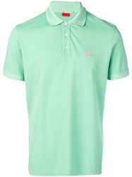 Isaia Chest Logo Polo Shirt Green