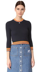 Courreges Sweater Marine And Rayures