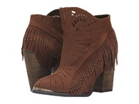 Not Rated Fierce Fringe Rust Women's Dress Boots Red