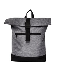 The Idle Man Roll Top Backpack Grey