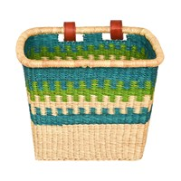 The Basket Room Awia Hand Woven Bicycle Blue Green