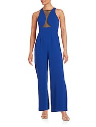 Bcbgeneration Squareneck Woven Jumpsuit Electric Blue