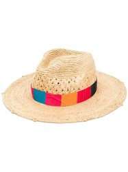 Paul Smith Ps Multicolour Band Hat Neutrals