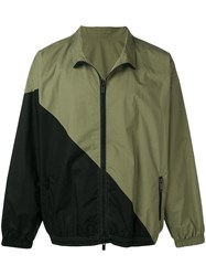 Unravel Project Contrast Panels Lightweight Jacket Green