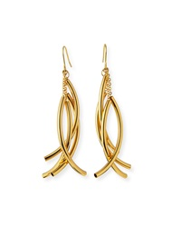 Nest Gold Plated Twisted Drop Earrings
