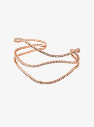 Michael Kors Pave Rose Gold Tone Wave Cuff