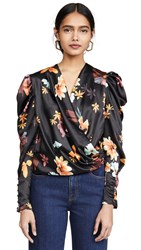 C Meo Collective Obsessions Top Black Floral