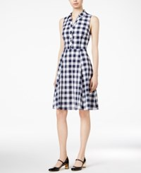 Maison Jules Cotton Gingham Shirtdress Only At Macy's Blu Notte Combo