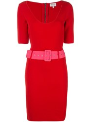 Milly Belted Mini Dress Red