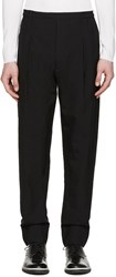 Christophe Lemaire Black Wool Pleated Trousers