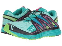 Salomon X Mission 3 Aruba Blue Navy Blazer Green Flash Women's Shoes