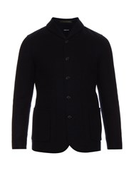 Giorgio Armani Shawl Collar Wool And Cashmere Blazer