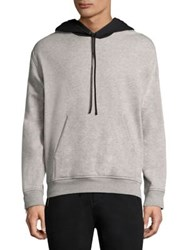 3.1 Phillip Lim Contrast Hood Cotton Hoodie Light Grey