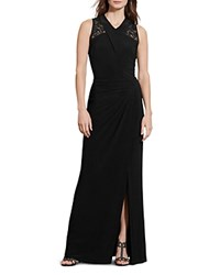 Ralph Lauren Sequin Lace Detail Gown Black