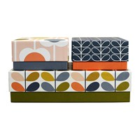 Orla Kiely Set Of 3 Storage Boxes Flowers