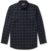 Filson Checked Cotton Twill Shirt Blue