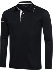 Galvin Green Marc Ventil8 Long Sleeved Polo Black