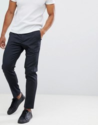 Selected Homme Trouser With Elasticated Waistband In Tapered Fit Black