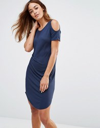 Noisy May Cold Shoulder T Shirt Dress Total Eclipse Navy