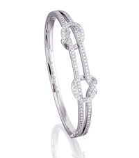 Boodles Knot Bangle Female White Gold