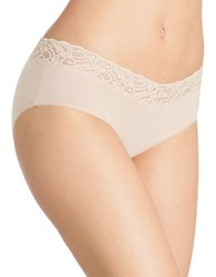 Wacoal Cotton Suede Hipster Panty Nude