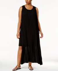 Ny Collection Plus Size Pleated Layered Maxi Dress Surf Mixcombo