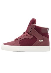 Supra Vaider Hightop Trainers Burgundy White Bordeaux