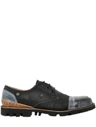 Diesel Washed Denim Derby Lace Up Shoes