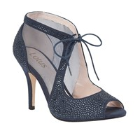 Lotus Vanille Diamante Court Shoes Navy