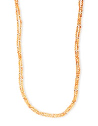 Lucky Brand Double Strand Beaded Necklace Carnelian