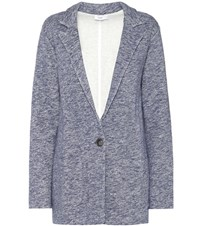 Closed Cotton Blend Jacket Blue