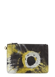 Jerome Dreyfuss Popoche Printed Leather Clutch