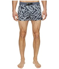 Diesel Caybay Short Shorts Lans Black White Men's Swimwear