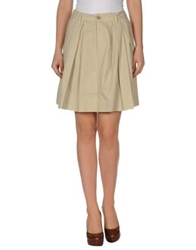 Combo Knee Length Skirts Beige