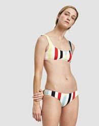 Solid And Striped The Elle Swim Bottom In Split Stripe